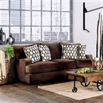 Glynis Sofa in Chocolate by Furniture of America - FOA-SM1276-SF