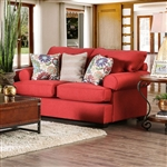 Rena Love Seat in Red by Furniture of America - FOA-SM1277-LV