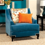 Vincenzo Chair in Peacock Blue by Furniture of America - FOA-SM2203-CH