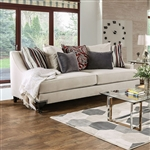 Viscontti Sofa in Ivory by Furniture of America - FOA-SM2206-SF