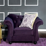 Antoinette Chair in Purple by Furniture of America - FOA-SM2222-CH