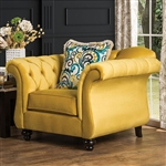 Antoinette Chair in Yellow by Furniture of America - FOA-SM2223-CH