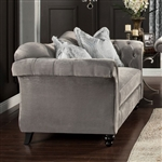 Antoinette Love Seat in Dolphin Gray by Furniture of America - FOA-SM2225-LV