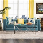 Salvatore Sofa in Turquoise by Furniture of America - FOA-SM2282-SF