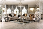 Camilla 2 Piece Sofa Set in Tan by Furniture of America - FOA-SM2681