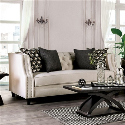 Aniyah Sofa in Beige by Furniture of America - FOA-SM2683-SF