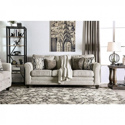 Aleah Sofa in Light Gray by Furniture of America - FOA-SM4110-SF