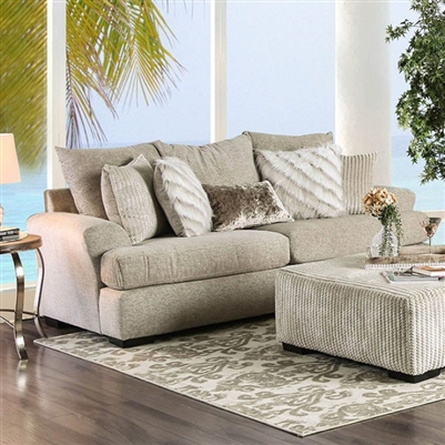 Anthea Sofa in Beige by Furniture of America - FOA-SM5140-SF