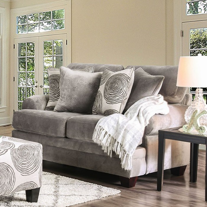 Remarkable Bonaventura Love Seat In Gray By Furniture Of America Foa Sm5142Gy Lv Alphanode Cool Chair Designs And Ideas Alphanodeonline