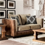 Chaparral Love Seat in Beige/Brown by Furniture of America - FOA-SM5144-LV