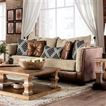 Chaparral Sofa in Beige/Brown by Furniture of America - FOA-SM5144-SF