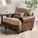 Fletcher Chair in Brown/Tan by Furniture of America - FOA-SM5148-CH