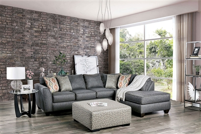 Earl Sectional Sofa in Gray by Furniture of America - FOA-SM5152
