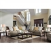 Augustina 2 Piece Sofa Set in Light Brown by Furniture of America - FOA-SM5164