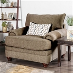 Augustina Chair in Light Brown by Furniture of America - FOA-SM5164-CH