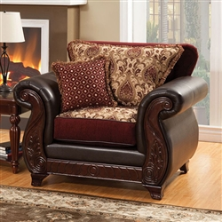 Franklin Chair in Burgundy by Furniture of America - FOA-SM6107N-CH