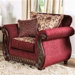 Tabitha Chair in Wine by Furniture of America - FOA-SM6110-CH