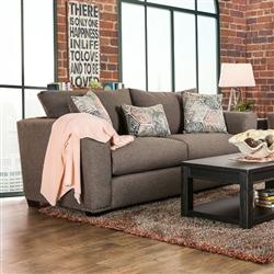 Bensen 2 Piece Sofa Set in Brown by Furniture of America - FOA-SM6151