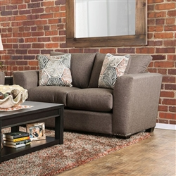 Bensen Love Seat in Brown by Furniture of America - FOA-SM6151-LV