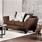 Delanie Love Seat in Chocolate by Furniture of America - FOA-SM6203-LV