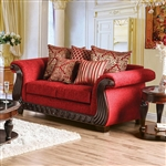 Corinna Love Seat in Ruby Red by Furniture of America - FOA-SM6209-LV