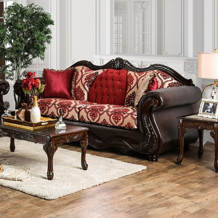 Wilford 2 Piece Sofa Set in Brown by Furniture of America - FOA ...