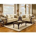 Doncaster 2 Piece Sofa Set in Tan by Furniture of America - FOA-SM7435