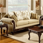 Doncaster Sofa in Tan by Furniture of America - FOA-SM7435-SF
