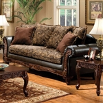 Rotherham Sofa in Brown & Espresso by Furniture of America - FOA-SM7630-SF