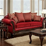 Marcus Sofa in Red by Furniture of America - FOA-SM7640-SF