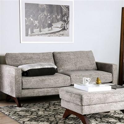 Harlech Sofa in Gray by Furniture of America - FOA-SM8004-SF