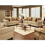 Rollins 2 Piece Sofa Set in Tan by Furniture of America - FOA-SM8110