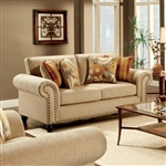 Rollins Love Seat in Tan by Furniture of America - FOA-SM8110-LV