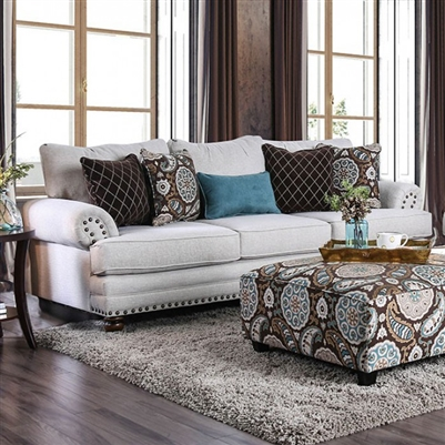 Amani Sofa in Beige by Furniture of America - FOA-SM8120-SF
