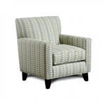 Brubeck Chair in Soft Teal with Block Pattern by Furniture of America - FOA-SM8140-CH-TL