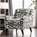 Patricia Animal Pattern Chair in Ivory/Black by Furniture of America - FOA-SM8171-CH-DG