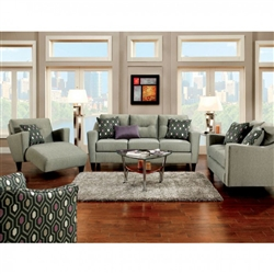 Coltrane 2 Piece Sofa Set in Gray by Furniture of America - FOA-SM8210