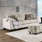 Stefano 2 Piece Sofa Set in Light Mocha by Furniture of America - FOA-SM8220