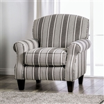 Ames Stripe Chair in Charcoal by Furniture of America - FOA-SM8250-CH-ST