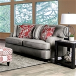 Ames Love Seat in Charcoal by Furniture of America - FOA-SM8250-LV