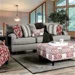 Ames Sofa in Charcoal by Furniture of America - FOA-SM8250-SF