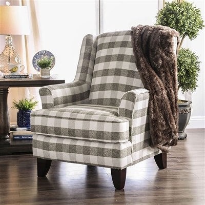 Christine Chair in Light Gray by Furniture of America - FOA-SM8280-CH