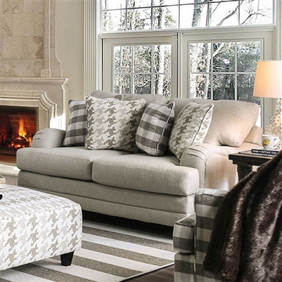 Christine Love Seat in Light Gray by Furniture of America - FOA-SM8280-LV