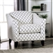Verne Diamond Chair in Gray/Ivory by Furniture of America - FOA-SM8330-CH-SQ