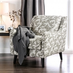 Dorset Floral Chair in Light Gray by Furniture of America - FOA-SM8564-CH-FL