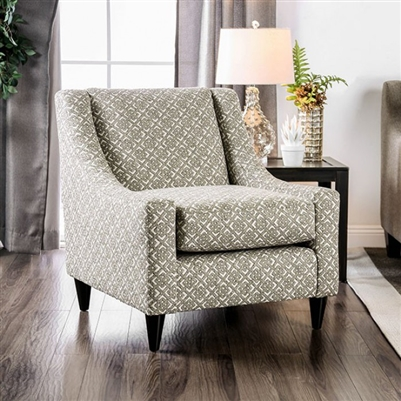 Dorset Square Chair in Light Gray by Furniture of America - FOA-SM8564-CH-SQ