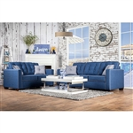 Ravel I 2 Piece Sofa Set in Blue by Furniture of America - FOA-SM8802