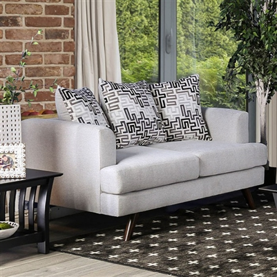 Blaenavon Love Seat in Silver by Furniture of America - FOA-SM8826-LV