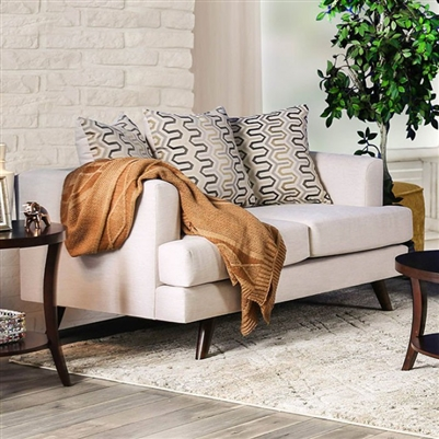 Blaenavon Love Seat in Beige by Furniture of America - FOA-SM8827-LV