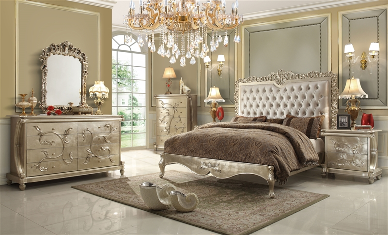 luxury upholstered bed by homey design hd 13005 b - Homey Design Upholstered